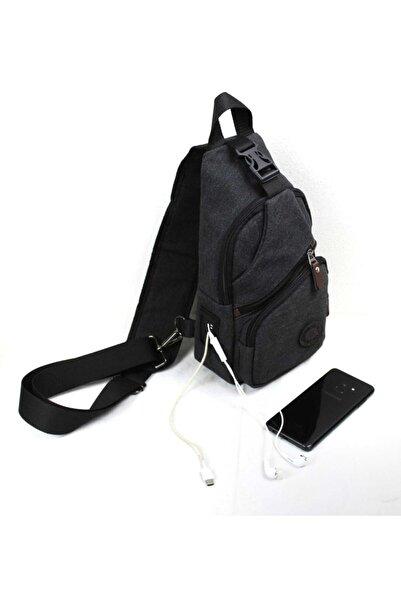 Newish Polo Kanvas Usb Çıkışlı Cross Bodybag