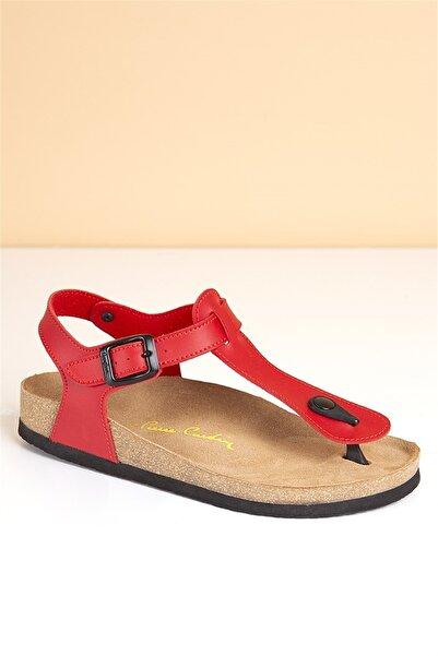 Pierre Cardin Pc-5056 Kırmızı Kadın Sandalet