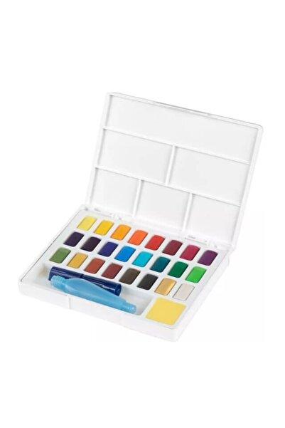 Faber Castell Creative Watercolor Tablet Sulu Boya Seti 24 Renk Su Hazneli Fırça