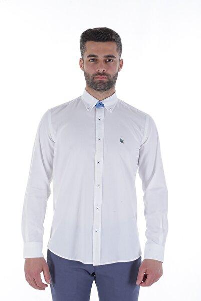 Diandor Uzun Kollu Erkek Gömlek Beyaz/White 1912007