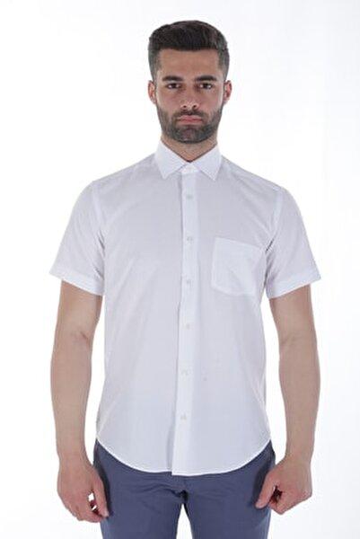 Kısa Kollu Erkek Gömlek Beyaz/White 1912618