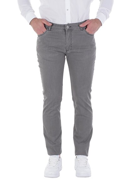 Diandor Slim Fit Erkek Pantolon Gri/Grey 1823013