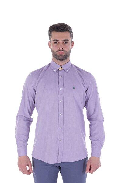 Diandor Uzun Kollu Erkek Gömlek Mor/Purple 1912007