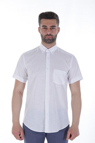 Diandor Kısa Kollu Erkek Gömlek Beyaz/White 1912615