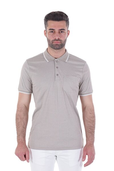 Diandor Polo Yaka Erkek Tshirt Bej/Beige 1917065