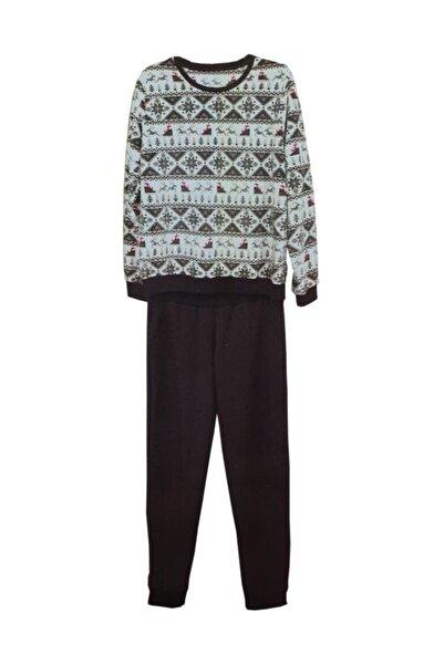 Penyemood 8463 Bilekli Kışlık Kadın Pijama Takım