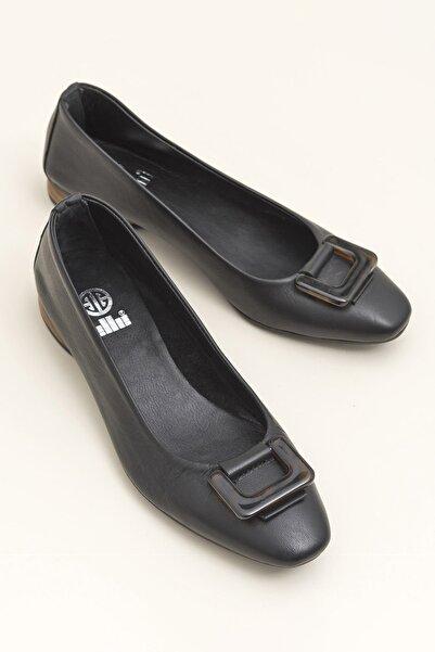 Elle Shoes Hakiki Deri Alea Siyah Kadın  Loafer Ayakkabı 20YEK30462010