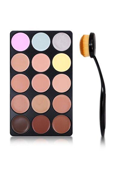 Makeuptime Mt 15'li Kapatıcı Paleti & Kapatıcı Fırçası Hediye