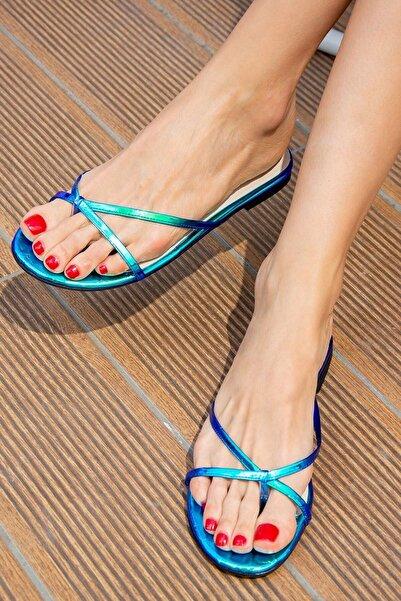 Fox Shoes Mavi Kadın Terlik H650332414