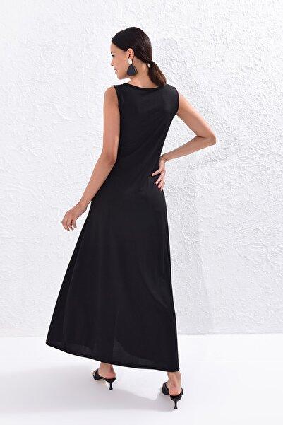 Kadın Siyah Uzun Tunik Elbise Yİ1823
