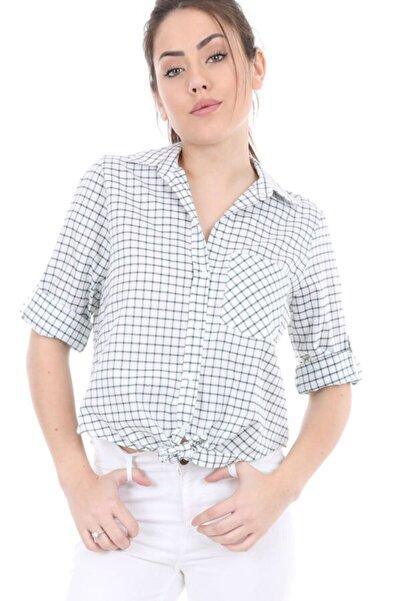 Kadın Yeşil Tek Cepli Bağlamalı Gömlek 3660bgd19_007