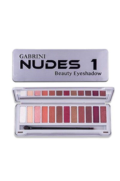 Gabrini 12'li Far Paleti - Nudes 01 8696814070814