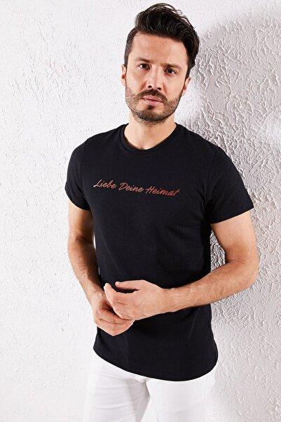 Zafoni Erkek Siyah T-shirt