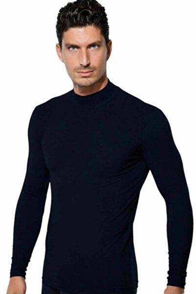 Doreanse Erkek Siyah Balıkçı Yaka Spor Sweatshirt 2930