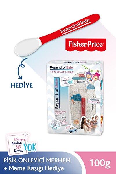 Bepanthol Baby Pişik Önleyici Merhem 100 g + Fisher Price Kirmizi Mama Kaşığı Hediye 8699546370504