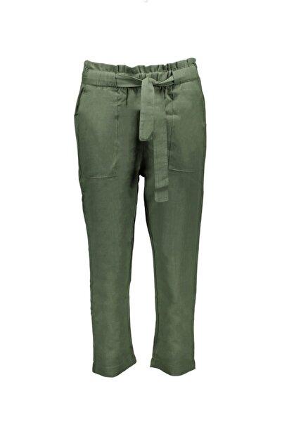 Collezione Kadın Haki Dokuma Basıc Pantolon