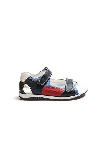 FAST STEP Hakiki Deri Lacivert Unisex Çocuk Klasik Sandalet 006fa700