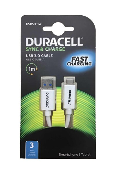 Duracell Sync & Charge Type- C Şarj Ve Data Kablosu
