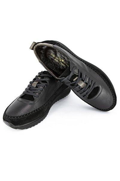 DeepSEA Erkek Siyah Paolo Massi Şeritli Deri Ayakkabı 2001801