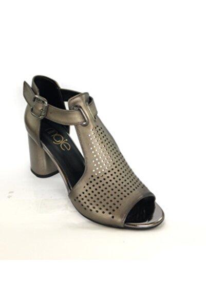 Maje Kadın Vizon Topuklu Sandalet
