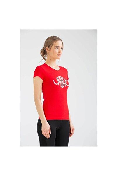 Kadın Kırmızı T-shirt Supported  Vf-0028 Mro