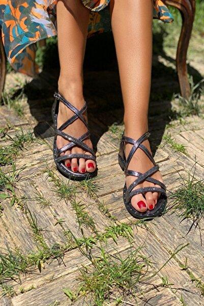 İnan Ayakkabı Platin Kadın Sandalet INA336NLT