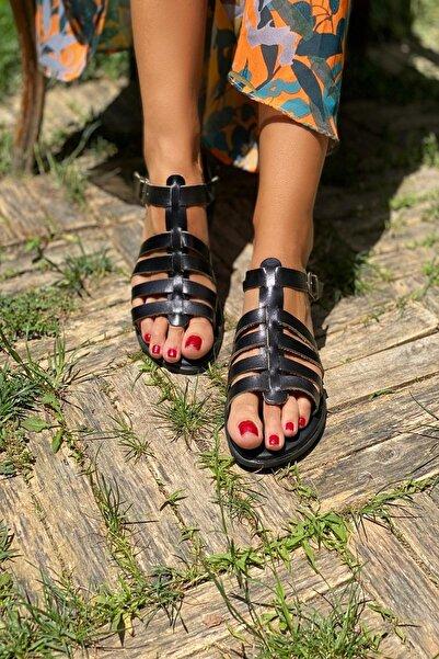 İnan Ayakkabı Siyah Kadın Sandalet INA6010SHT
