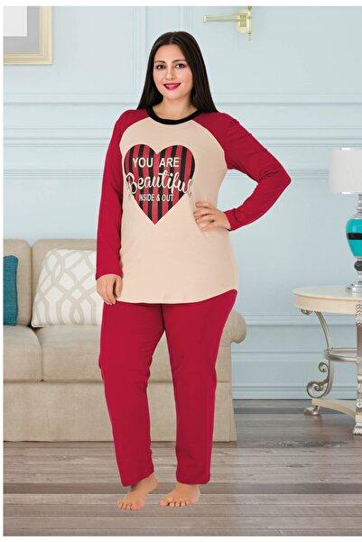 Riccardo Colli Kadın Kırmızı Uzun Kol Pijama Takımı L-164