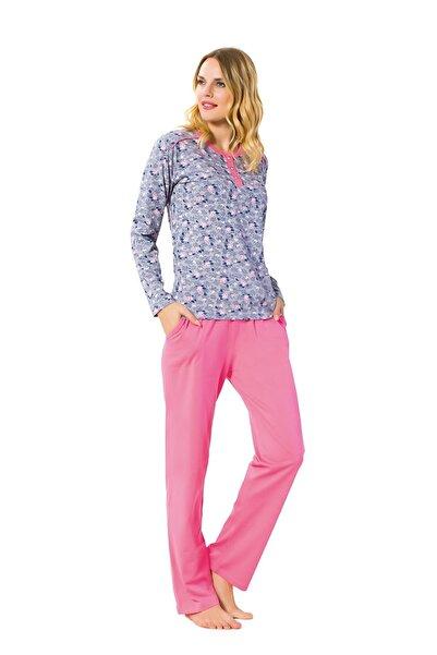 walkie April Pembe/Mavi Pijama Takımı