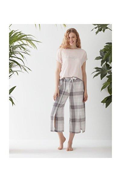 Catherine's Kadın Pembe  Kapri Pijama Takım