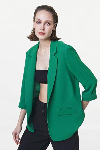Kadın Yeşil Truvakar Kol Ceket IS1200005088070