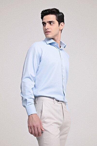 D'S Damat Erkek Slim Fit Gömlek Mavi 4HF02ORT10185_701