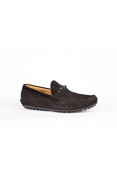 Valentino Garavani Erkek Siyah Süet Loafer Ayakkabı