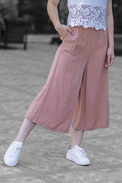 Madmext Mad Girls Pudra Bol Paça Kısa Pantolon Mg478