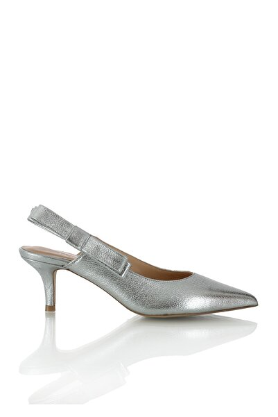 974 100 Krıstal Gumus R4146 Kadın Ayakkabı-(6 cm)