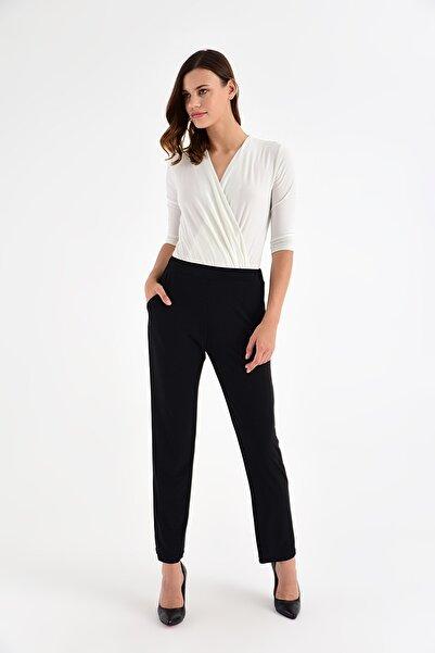 Laranor Kadın Siyah Cep Detaylı Şalvar Kesim Pantolon 20L6846