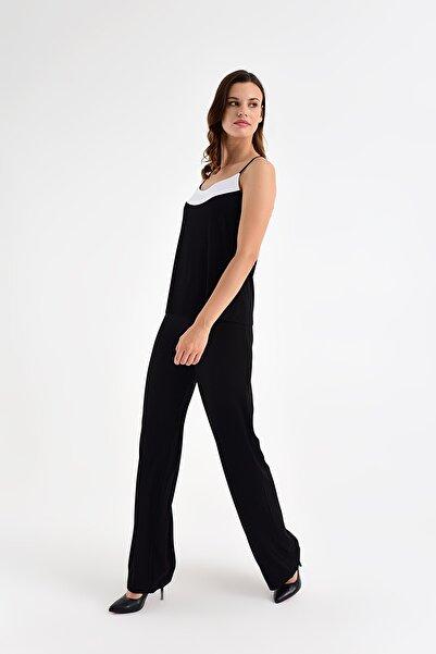 Laranor Kadın Siyah Beli Lastikli Rahat Kesim Pantolon 20L6841