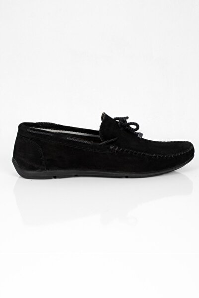 DeepSEA Erkek Siyah Paolo Massi Dikiş Detaylı Deri Ayakkabı 2001790