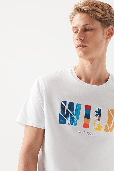 Erkek Wild Baskılı Beyaz T-Shirt 066132-620