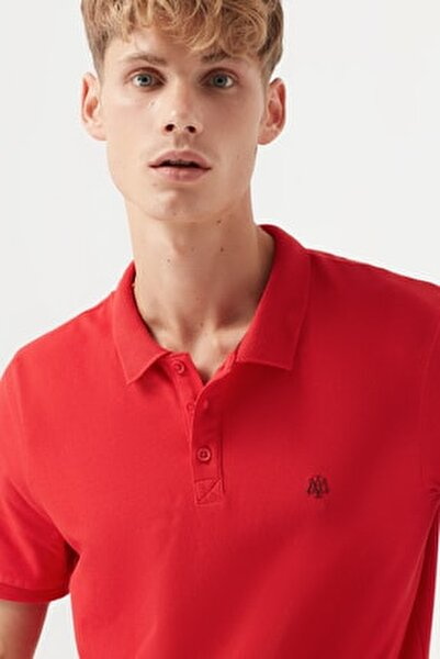 Erkek Kırmızı Polo T-Shirt 065495-31557