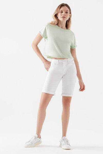 Kadın Alexis Gold Beyaz Jean Şort 1441530484