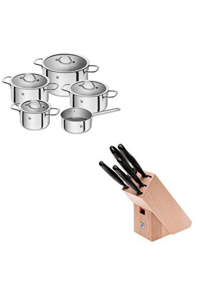 ZWILLING Neo 5 Parça Çelik Tencere Seti+ 6 Parça Bloklu Bıçak Seti
