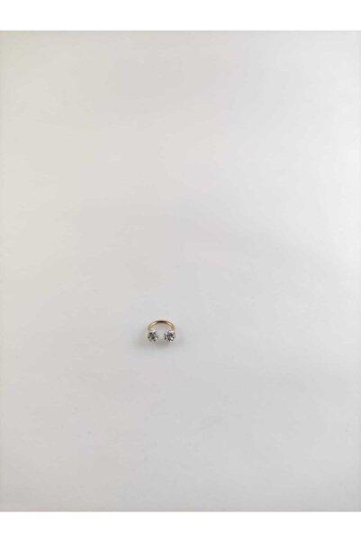 316l Cerrahi Çelik Rose Gold Bar Shambala Taşlı 6 Mm Septum Piercing