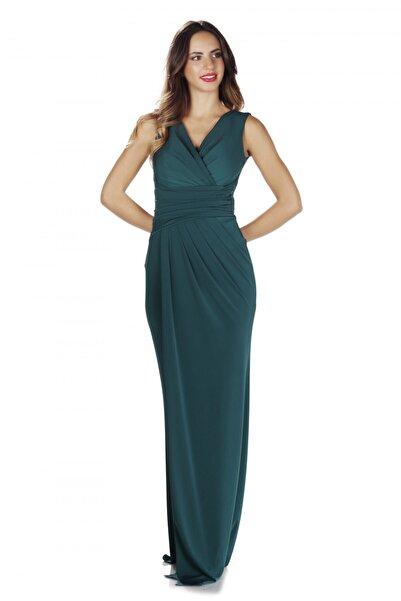 Pierre Cardin Kadın Yeşil Sandy Yırtmaçlı Uzun Abiye Elbise PC55269