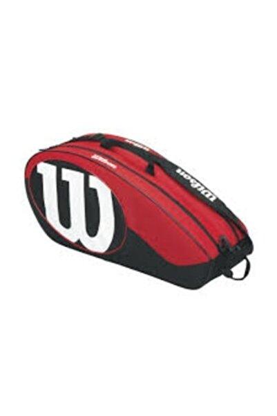 Wilson Tenis Çantası Match Iı 6 Pack - Siyah / Kırmızı