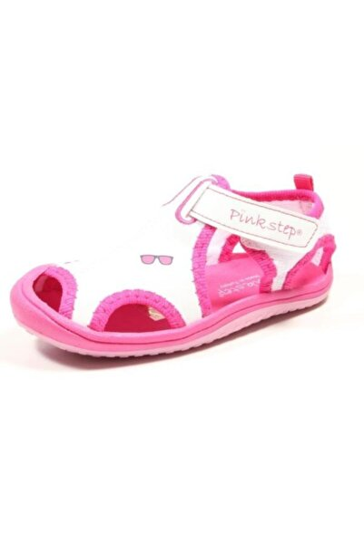 Pinkstep Pink Step Jüpiter-4 Beyaz Kız Çocuk Cırtlı Sandalet