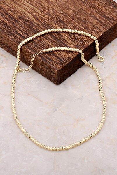 Sümer Telkari Dorissa Altın Yaldızlı Gümüş Kolye 6850