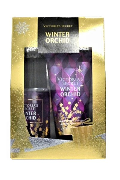 Victoria's Secret Winter Orchid 75ml Vücut Spreyi+75ml Vücut Losyonu Hediye Seti