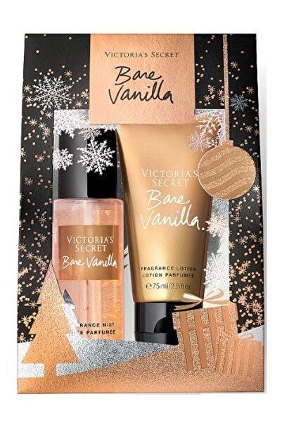 Victoria's Secret Bare Vanilla 75ml Vücut Spreyi+75ml Vücut Losyonu Hediye Seti