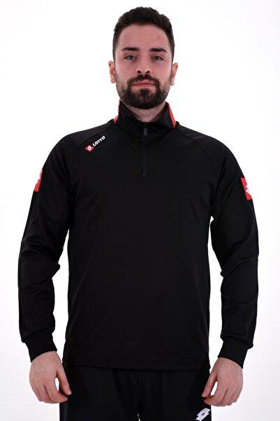 Lotto Sweatshirt(Halfzip) Erkek Siyah/Kırmızı-Joe Sweat Hz Ant Pl-R8924